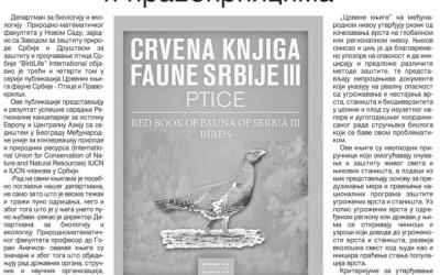 """23.03.2019., Дневник: """"О угроженим птицама и правокрилцима"""""""
